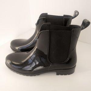 Nicole Miller Style Short Black Rain Boots Sz 9